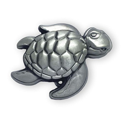 - KeCol Adult Unisex Ocean Sea Turtle Swimming Belt Buckle Silver