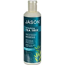 Jason Normalizing Treatment Shampoo Tea Tree - Normalizes Dry and Itchy Scalp - No Parabens - 17.5 fl oz (Pack of 4)