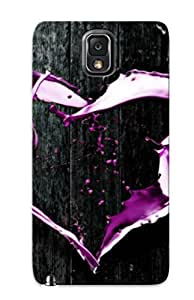 Awesome Design Abstract Purple Heart Hard Case Cover For Galaxy Note 3(gift For Lovers)