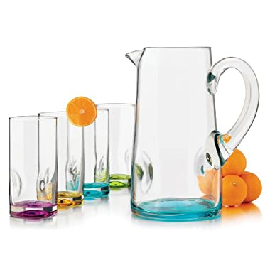 Libbey Impressions Colors Pitcher Set, 5-Piece