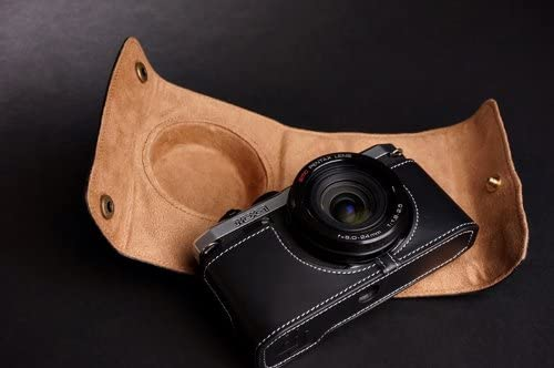 Handmade Genuine real Leather Full Camera Case bag cover for Pentax MX-1 MX1 Black color
