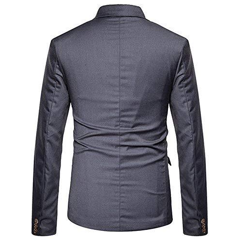 Manteau Costume Printemps Blazer Deux Veste Marque Ajusté Dunkelgrau Pour Mode Décontractée Hommes Rangées Élégant g44Pyqr