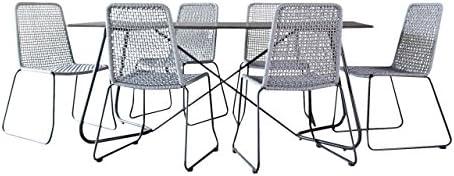 Muebles de Jardín Jardín Set Martinica en antracita Jardín Essgruppe en nuevo Rope Diseño de la tela. Sport Line Exclusivo de Juego de Jet.: Amazon.es: Jardín