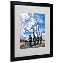 Trademark Fine Art DC Canvas Wall Art by Cat Eyes, Black Frame, 16 by 20-Inch