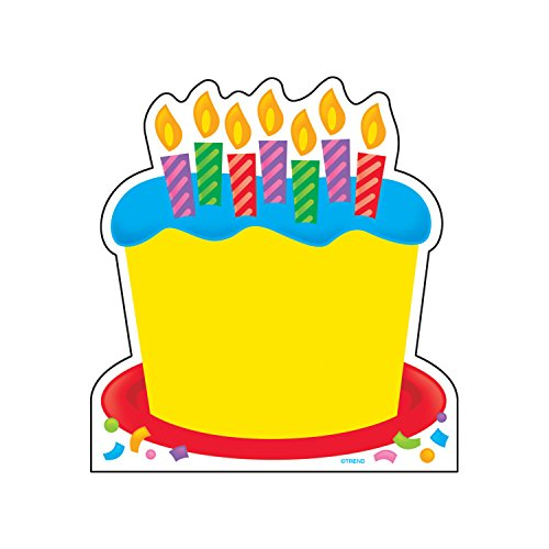 TREND enterprises, Inc. Birthday Cake Note Pad-Shaped, 50 sheets