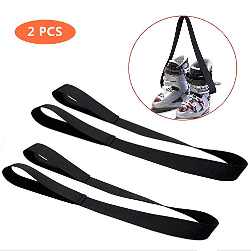 RZRZOO Ski and Snowboard Boot Carrier Strap - Men & Women - Shoulder Sling Leash Also for Ice Skates & Rollerblades - Equipment Accessories for Bag, Kit and Gear Pack