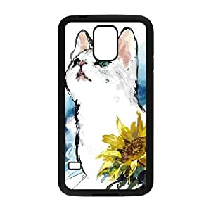 Cute Cat Design Hard Back Protection Cover Case For Samsung Galaxy S5 TPU