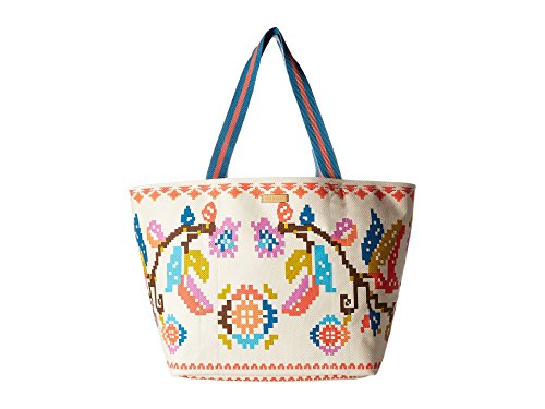 - Vera Bradley Women's Canvas Beach Tote Hacienda Cross Stitch One Size
