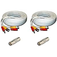Generic SEA-C101 2x BNC 100ft Cable with 2x Female to Female Coupler for Security Samsung Products