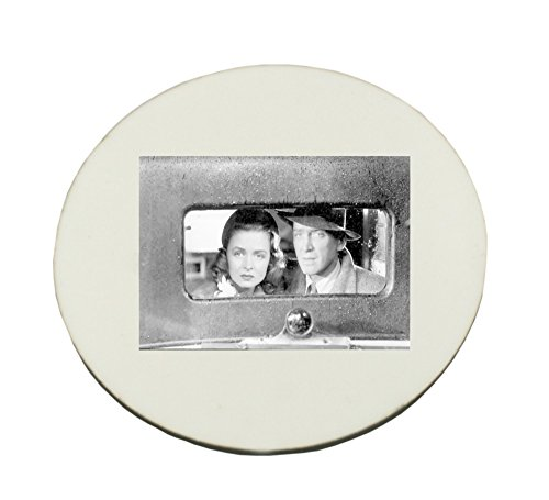 Circle Mousepad with Jimmy Stewart and Donna Reed in the movie It's A Wonderful Life