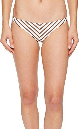 Vitamin A Swimwear Women's Tulum Bottom Marin Stripe Cocoa 4