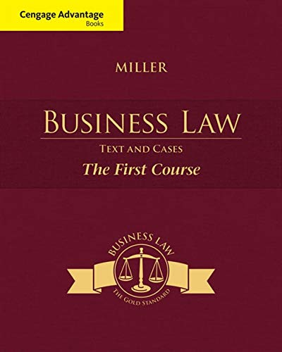 Pdf Law Cengage Advantage Books: Business Law: Text and Cases - The First Course