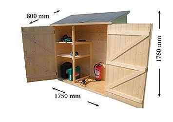 Abri mural bois de rangement grand volume avec étagère de rangement ...