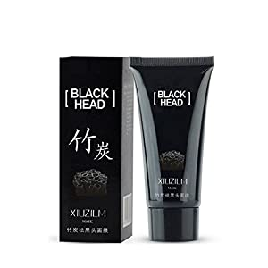 Blackhead Mask ,Blackhead Remover Nose Mask, Facial Blackhead Remover Tearing style Deep Cleansing Purifying Peel off the BlackHead,Acne Treatment, Mineral Black Mud Face Mask 60g