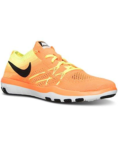 Nike W Free Tr Focus Flyknit, WoMen Hiking Shoes Total Orange/Volt/White/Black