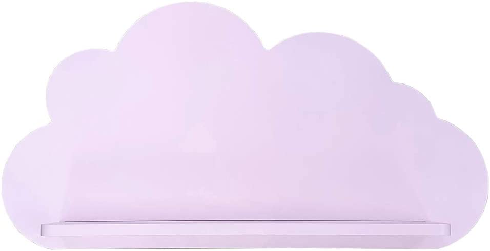 Cloud Shelves for a Children's Nursery Floating Shelf Design (Pair - 2X Shelves) Shelving Child's Bedroom Themed Boy/Girl - Available in White, Grey, Blue or Pink (White) Pink