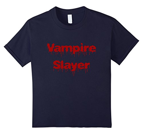 Kids Vampire Slayer T-shirt DIY Halloween Costume Funny Scary 12 (Scary Halloween Costumes Diy)