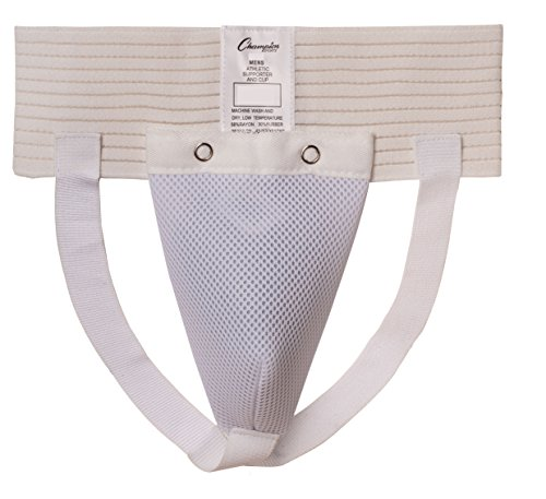 Champion Sports Men's Cup and Athletic Supporter (White, X-Large)