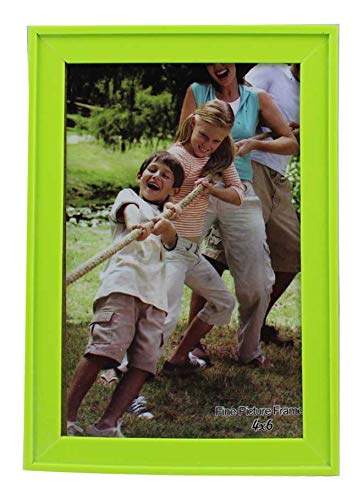 (PP Modern Collection Photo Frame Lime Green Plastic (4