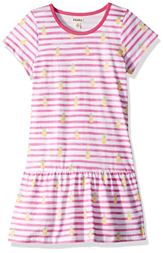 Hatley Girls' Big Tee Dress, Painted Pineapples, 8 Years ()