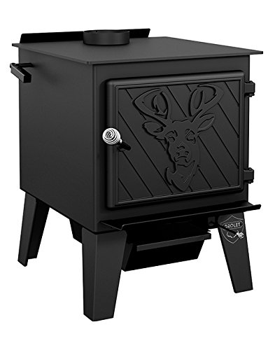 Drolet Black Stag High-Efficiency Wood Stove - 90,000 BTU, EPA Certified, Model Number DB03410