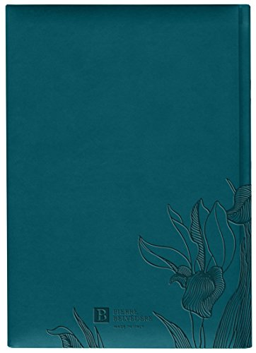 Iris Collection Large Hardcover Notebook with Padded Embossed Cover, Teal (7706320) Photo #2