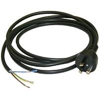 Interpower 86210020 Australian AC Power Cord, AS/NZS 3112:2000 Plug Type, Black Plug Color, Black Cable Color, 10A Amperage, 250VAC Voltage, 2.5m Length