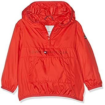 Tommy Hilfiger Unisex Pop-Over Jacket Chaqueta, Rojo (Flame ...