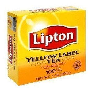 Lipton Yellow Label Finest Blend Tea Bags 100 tea bags Pack of 2 (2 x 7 ox / 2 x 200 g)
