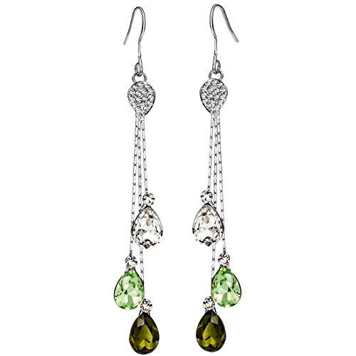 Neoglory Jewelry Teardrop Crystal Five Colors Drop Earrings 3.14