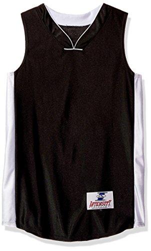 Boy's Intensity Boys Youth Pro Style Dazzle Basketball Jersey, Black/White, Medium (Youth Dazzle Cloth)