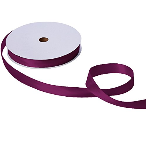 Jillson & Roberts Double-Faced Satin Ribbon, 1'' Wide x 100 Yards, Burgundy by Jillson Roberts