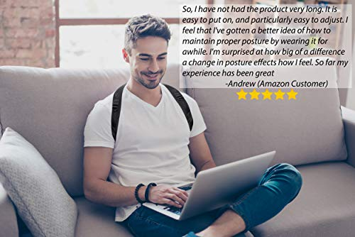 Posture Brace for Women and Men, Comfortable and Sleek Posture Corrector Relieves Back Pain and Improves Posture So You Can Feel Better and Be Happier, Fits Up To 48 Inch Chest by Keffee (Image #2)