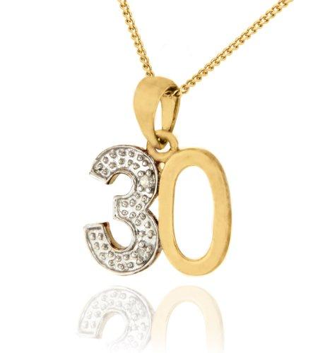 Carissima Gold Collar con colgante con oro amarillo de 9K y diamantes, 46 cm
