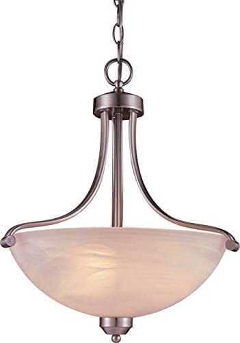 Minka Lavery Pendant Ceiling Lighting 1426-84, Paradox Bowl, 3 Light, 300 Watts, Nickel