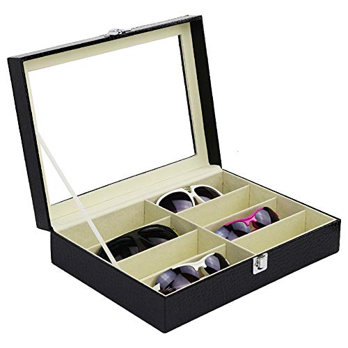 Neu Schick Brille Sonnenbrille Box Etui mit Reißverschluss Schutz Schwarz