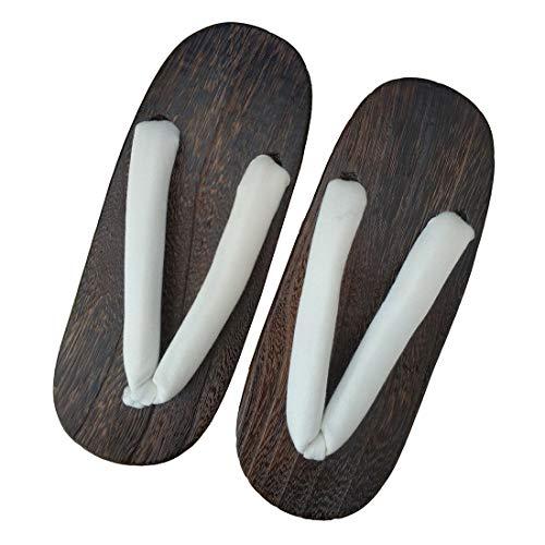 Ez-sofei Women's Japanese Traditional Shoes Wooden Clogs Geta Sandals A-beige