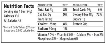 Primal Thin Protein Bars 24 Bars w/ 20g Organic Protein Grass Fed Whey (130 Cal, 1g Sugar, 1 Net Carb) (Gluten Free)