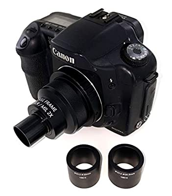 2X Microscope Adapter for Canon EOS/Rebel DSLR Cameras. Fits 23mm, 30mm and 30.5mm Ports