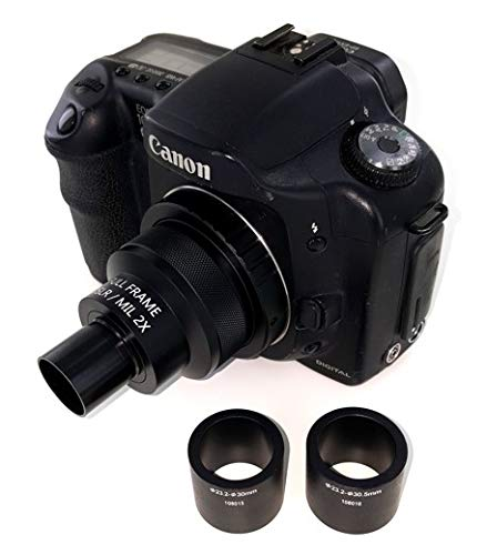 2X Microscope Adapter for Canon EOS/Rebel DSLR Cameras. Fits 23mm, 30mm and 30.5mm Ports by Modern Photonics