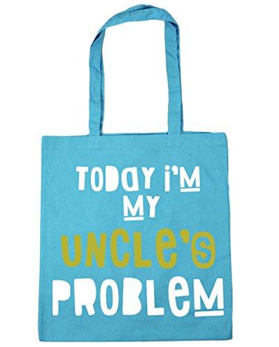 HippoWarehouse hoy I 'm problema de mi tío Tote Compras Bolsa de playa 42cm x38cm, 10litros azul (Surf Blue)