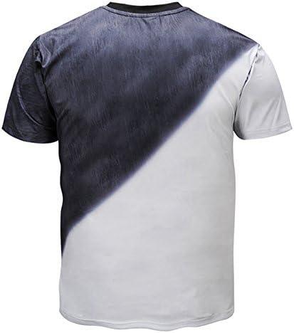 メンズ 半袖 おもしろ ファション プリント カジュアルTシャツ