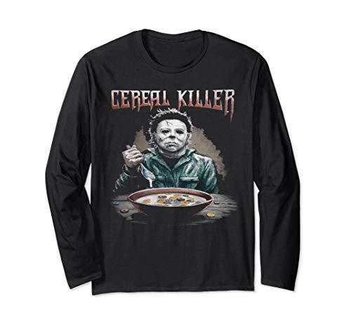 Funny Cereal Killer True Crime Serial Killer Novelty Gift Long Sleeve T-Shirt ()