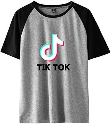 TIK Tok Camiseta Manga Corta Basica Mujer Hombre Sudadera Bicolor Camisa Béisbol Jersey Harajuku Sueter Blusa Cuello Redondo Sweatshirt Verano Pullover Hip Hop Jumper Tunica Top C00605TX1421S: Amazon.es: Ropa y accesorios