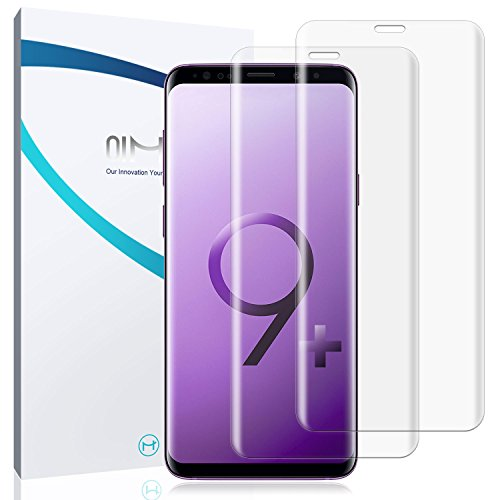 2-Pack Samsung Galaxy S9 Plus Screen Protector, QiMai Invisible+ [Guide Tool Easy Install Dust-Free Version] HD Full Cover Ultra-Thin Screen Film for Galaxy S9+