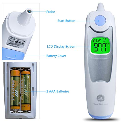 Baby Ear Thermometer for Fever Gland Medical Digital Ear Thermometer for Baby, Infants,Toddlers, and Adults FDA Approved by GL Gland Electronics (Image #1)