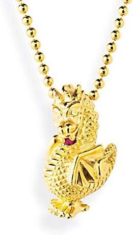 Drachenfels Drachenanhänger con Rhodolith en Echtsilber š Colección de pequeñas imperfecciones, ausgefallener seguidores de 925 esterlinas de plata, goldplattiert
