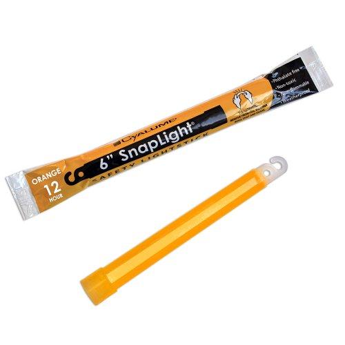 Cyalume SnapLight Industrial Grade Chemical Light Sticks, Orange, 6