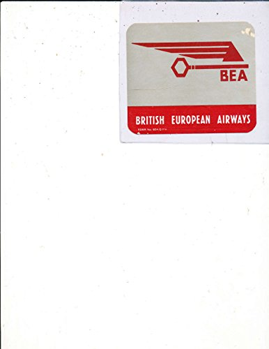 BEA British European Airlines 1950's luggage Label Sticker