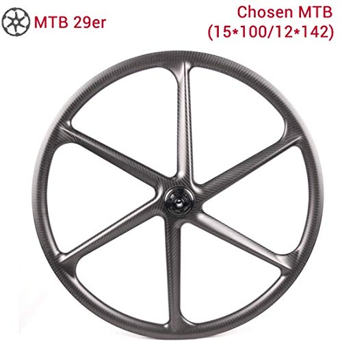 LightCarbon MTB 6 Fixed Power Beam Spokes Gear Clincher Tubeless Ready Carbon Fiber Bicycle Rear Wheel Size 29er 700c x 24/30mm Width 30mm Rim Depth/Mountain Type/Chosen hub Shimano Sram 10/11s XD